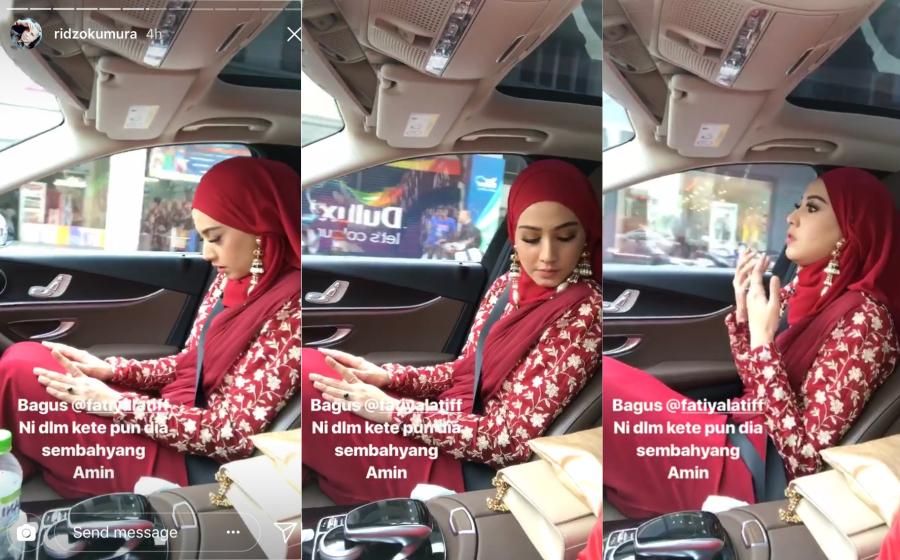 Fathia Latiff Jawab Isu Videonya Sedang Kerjakan Solat Dalam Kereta!