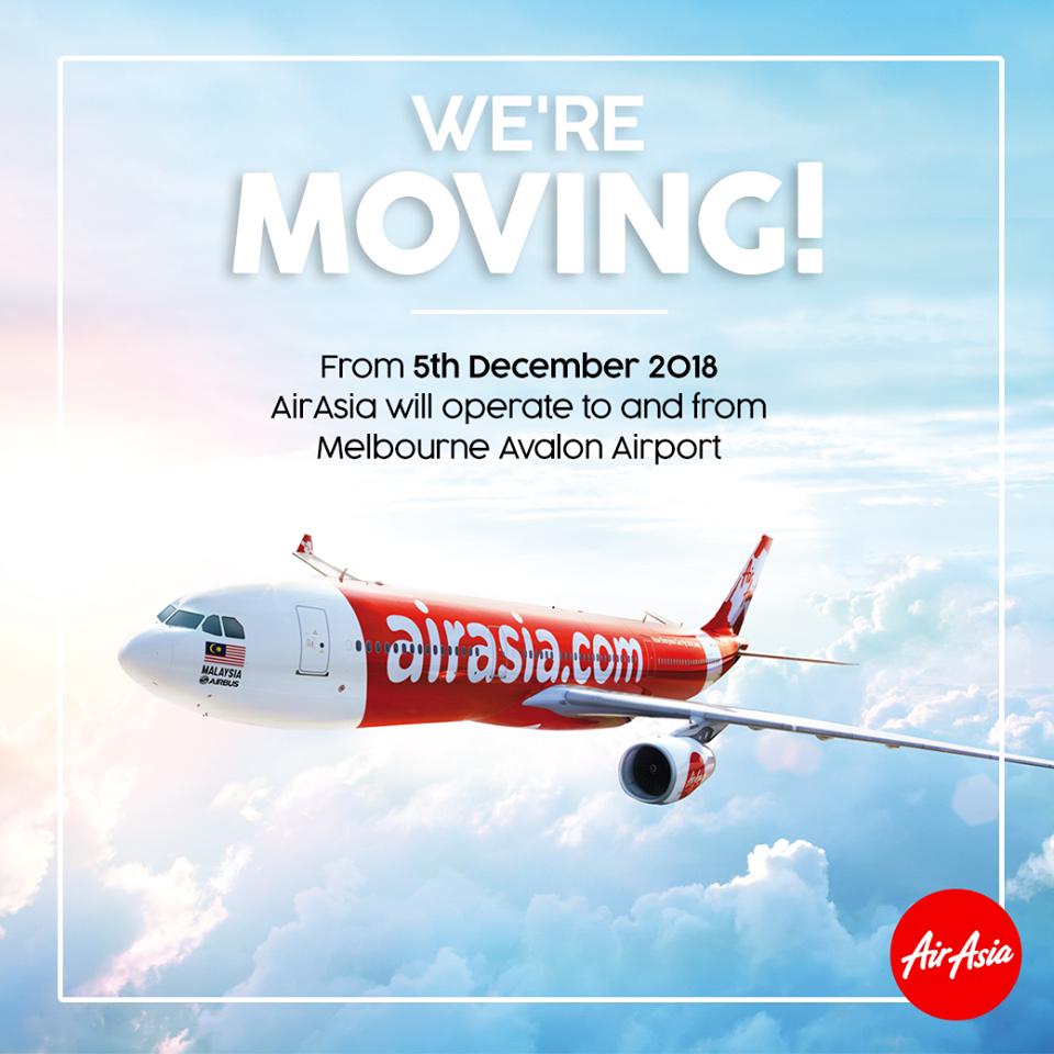 Pertukaran airport bermula 5 Disember 2018.