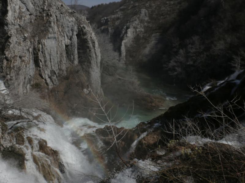 Keindahan air terjun di Taman Negara Plitvice Lakes.