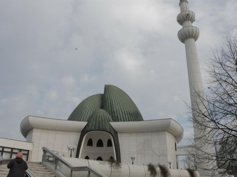 Masjid Zagreb di Pusat Islam Zagreb.