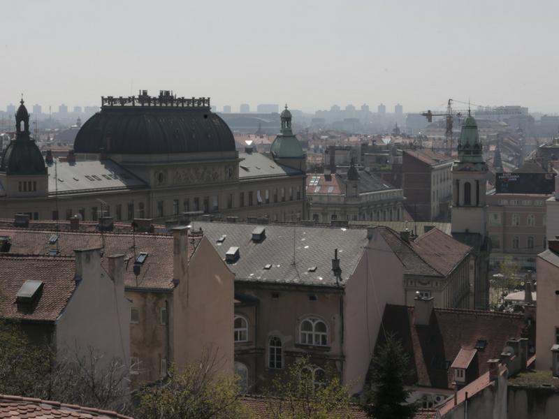 Bandar Zagreb, ibu negara Croatia.