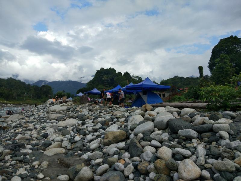 Terbentuk selepas kejadian gempa bumi di Ranau.
