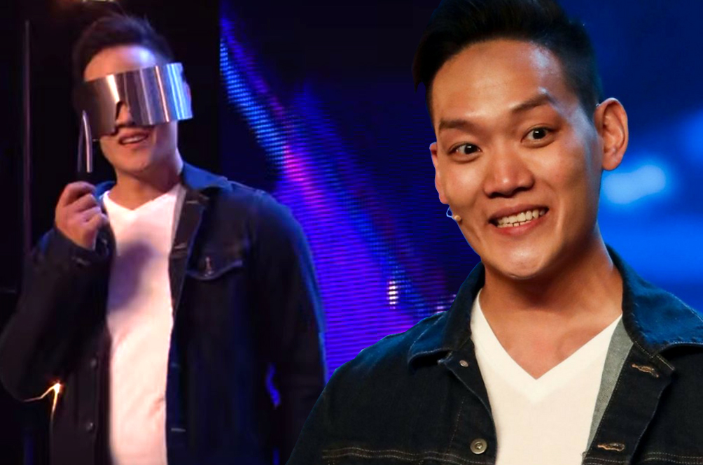 Britain's Got Talent 2018: Magician Andrew Lee throws KNIFE at Dec in risky trick