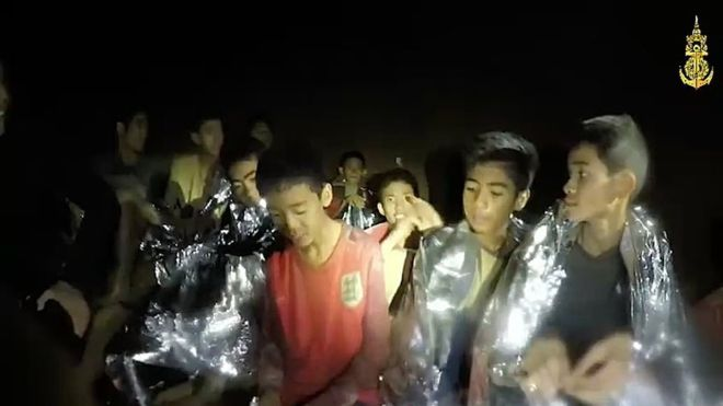 The group of boys miraculously survived the ordeal despite being in the dark without sufficient food and water.